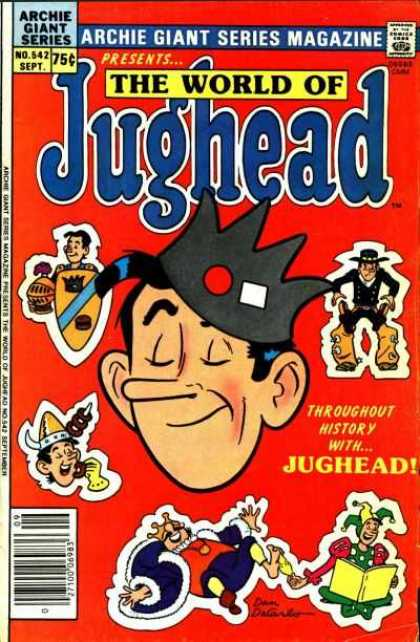 Archie Giant Series 542 - The World Of Jughead - Cowboy - Knight - Viking - King