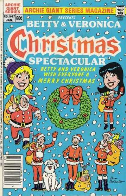 Archie Giant Series 547 - Betty - Veronica - Christmas - Santa - January