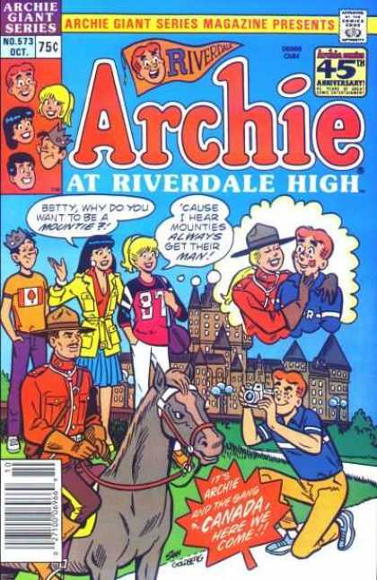 Archie Giant Series 573 - Mountie - Castle - Riverdale - Camera - Jughead