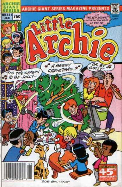 Archie Giant Series 581 - Little Archie - It Is The Season To Be Jolly - A Messy Christmas - Ohby Golly - Bob Bolling