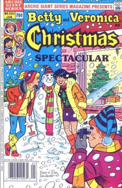 Archie Giant Series 593 - Christmas Spectacular - Snow - Betty - Veronica - Camera