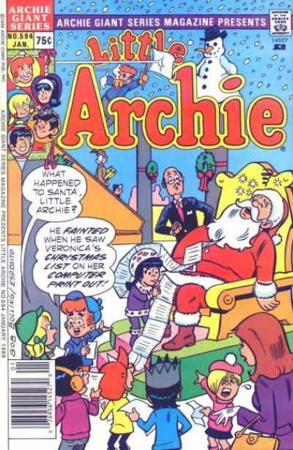 Archie Giant Series 594 - Santa Claus - Shopping Mall - Christmas List - Escalator - Snowman