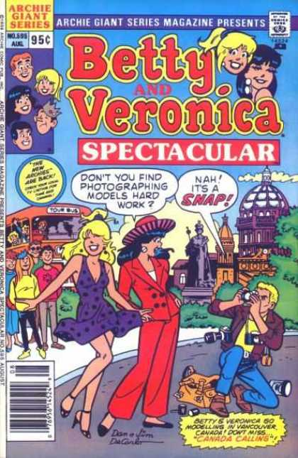 Archie Giant Series 595 - Betty - Veronica - Photographer - Tour Bus - Camera