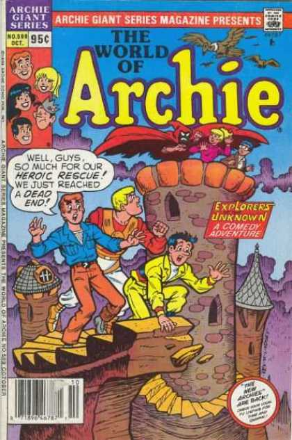 Archie Giant Series 599 - Castle - Birds - Monster - Yellow Suit - Heroic Rescure