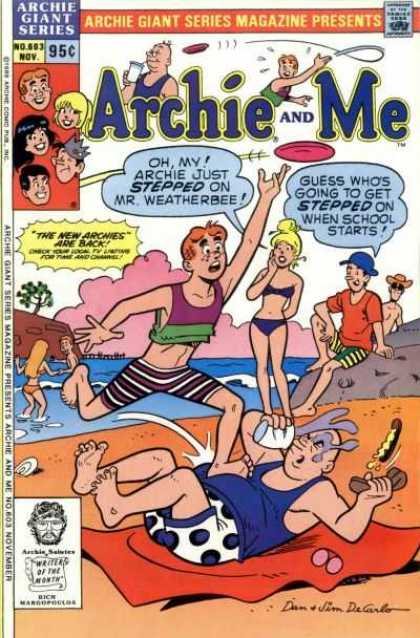 Archie Giant Series 603 - Veronica - Jughead - Betty - Mr Weatherbee - Fun At The Beach
