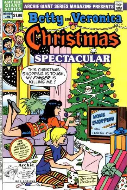 Archie Giant Series 606 - Comic - Betty - Veronica - Christmas - Shopping