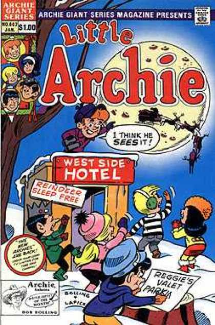 Archie Giant Series 607 - Speech Bubble - Moon - Santa - Reindeer - West Side Hotel