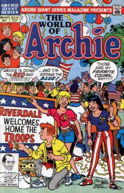 Archie Giant Series 622 - Archie - Betty - Flag - Veronica - Riverdale