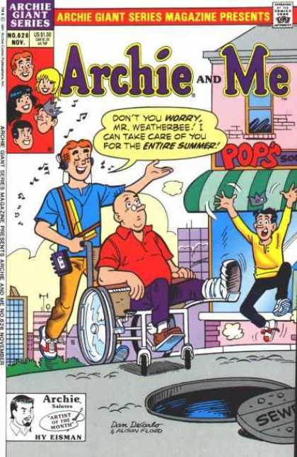 Archie Giant Series 626 - Man - Wheelchair - Jughead - Betty - Veronica