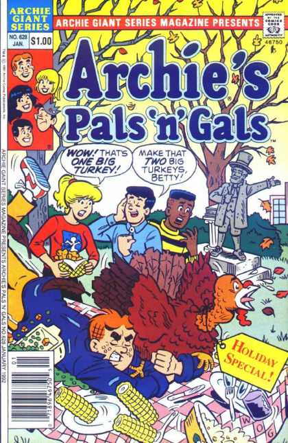 Archie Giant Series 628 - January - Pals N Gals - Betty - Statue - Turkey