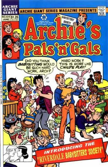 Archie Giant Series 631 - Pals And Gals - Boys - Girls - Babys - Comics Code