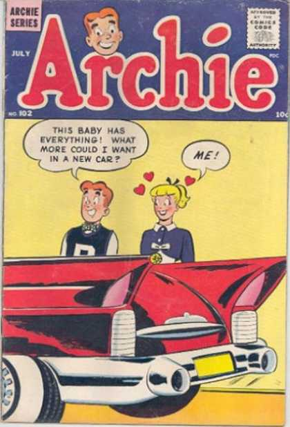 Archie 102 - Archie - Archie Comics - Crush - Girl - Red Car