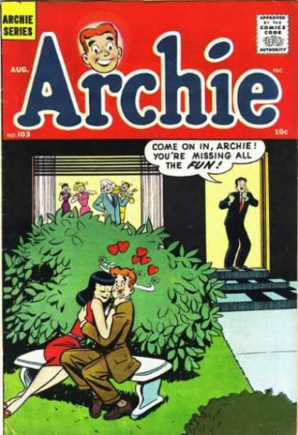 Archie 103 - Bush - August - Hug - Hearts - Party