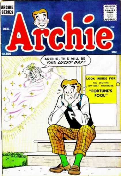 Archie 106 - Archie Series - Lucky Day - Red - Blue - Gold
