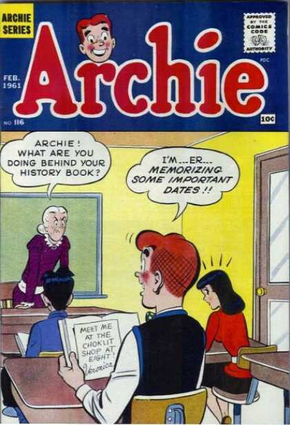 Archie 116 - Teacher - White Hair - Classroom - Desk - Book