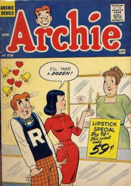 Archie 118 - Archie Series - Lipstick Special - Red Dress - Bells - Hearts