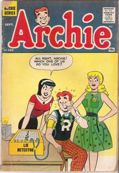 Archie 122 - Which One Of Us Do You Love - Lie Detector - Green Dress - Blonde Hair - Alice Band