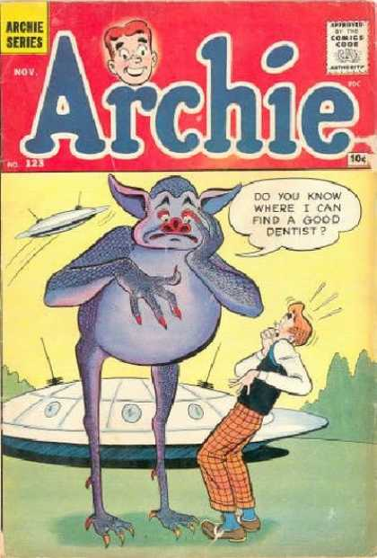 Archie 123 - Good Dentist - Huge Troll - Ufo - Surprised Archie - Plaid Pants
