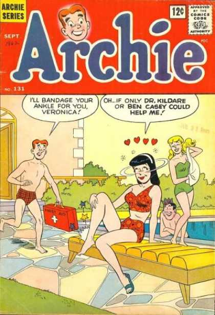 Archie 131 - Riverdale High - Veronica - Betty - Jughead - Pool Party