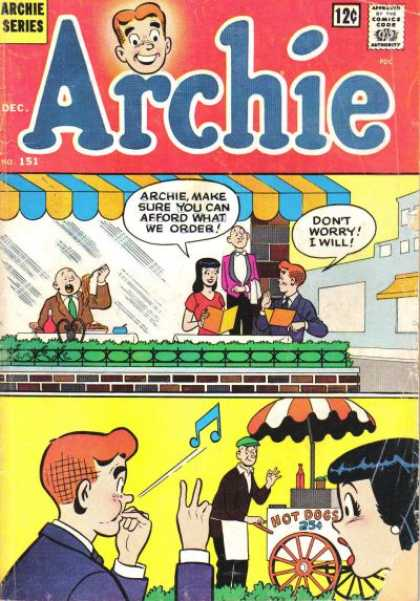 Archie 151 - Hot Dogs - Fancy Restaurant - Waiter - Surprise - Woman