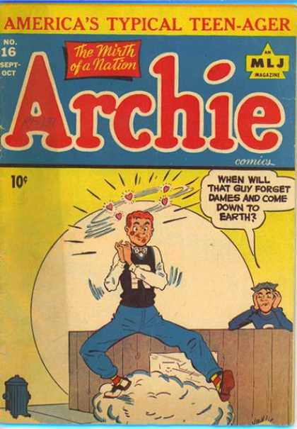 Archie 16 - The Mirth Of A Nation - Fence - Fire Hydrant - Americas Typical Teen-ager - Love