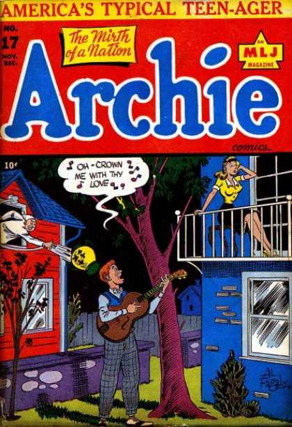 Archie 17 - Woman On Balcony - Man Playing Guitar - Love - Night - Despair