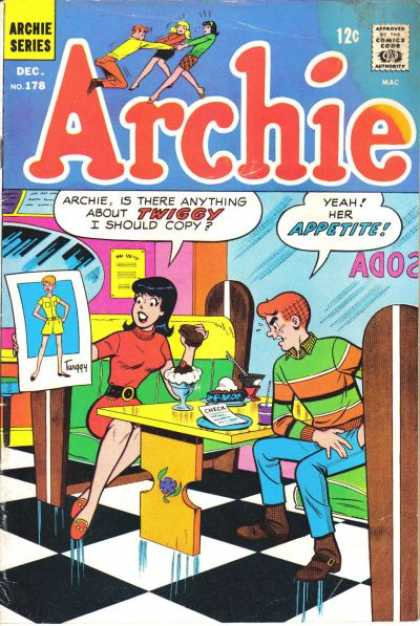 Archie 178 - Girl - Boy - Booth - Ice Cream Parlor - Window