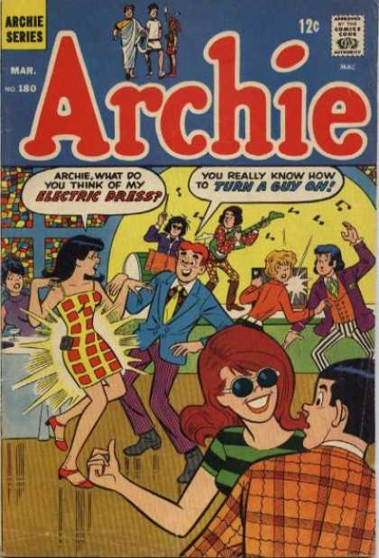 Archie 180 - March Issue - Two Man Band - 3 Couples Dancing - Need Sunglasses - Stain Glass Window