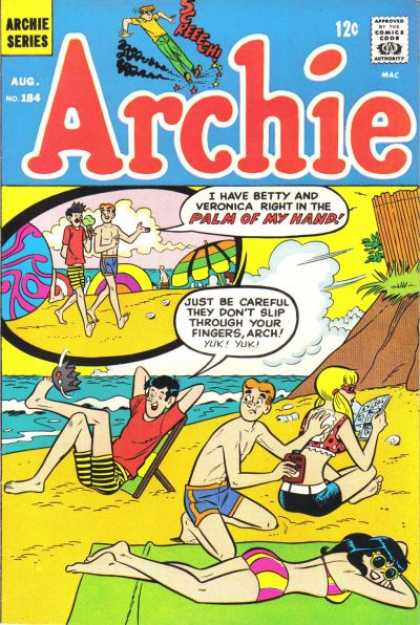Archie 184 - No 184 - Sun Tanning - Beach - Sun Tan Lotion - Cliff