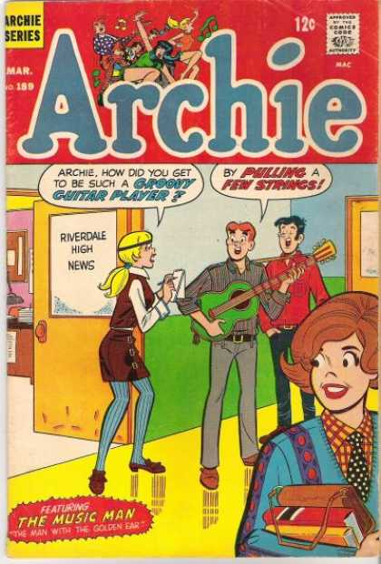 Archie 189 - Green Guitar - Singing - Newsroom - Books - Poka Dot Tie