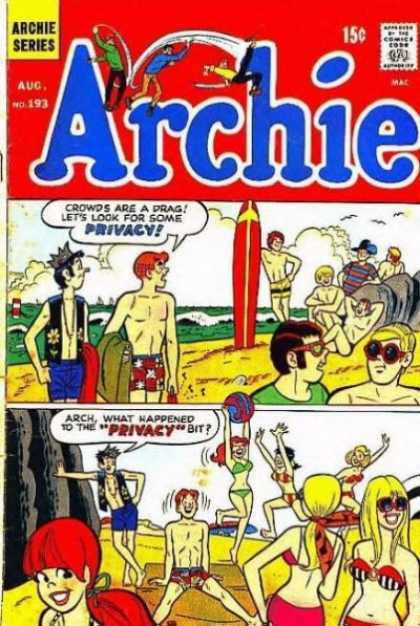 Archie 193 - Archie Series - Comics Code - Boys - Beach - Girls