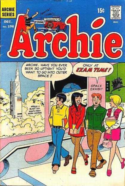 Archie 196 - Archie - Archie Comics - Exams - High School - Space