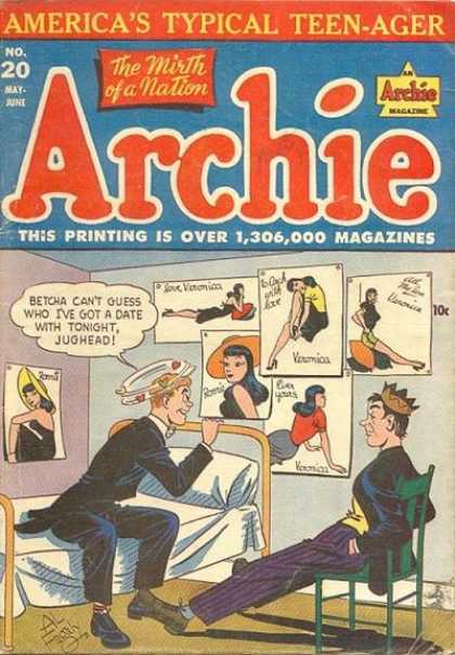 Archie 20 - Jughead - Veronica - Bed - Chair - Hat