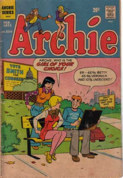 Archie 224 - Girl - Choice - Sign - Vote Smith For Congress - Undecided