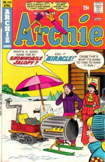 Archie 24 - Approved By The Comics Code - Umbrella - Man - Woman - Snow