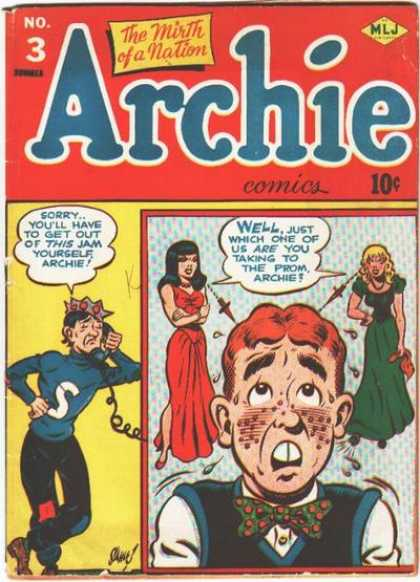 Archie 3 - Archie Issue No 3 - Love Triangle - Prom Night - No Help From Jughead - Betty Or Veronica