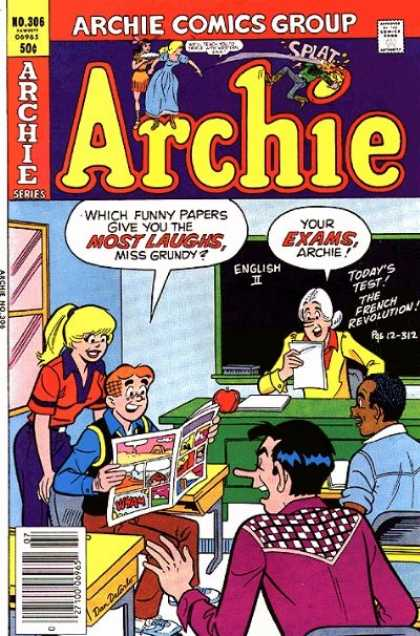 Archie 306 - Which Funny Papers Give You More Laughs Miss Grundy - English - Blackboard - Your Exams - Classroom