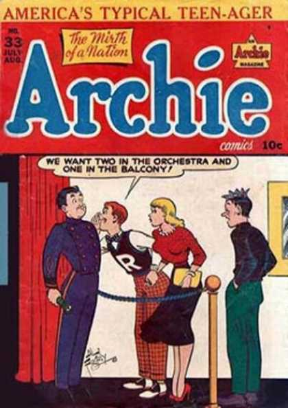 Archie 33 - Teenagers - Balcony - Orchestra - Theatre - July-august
