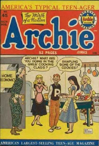 Archie 45 - Teens - Teacher - Cookies - Aprons - Stove