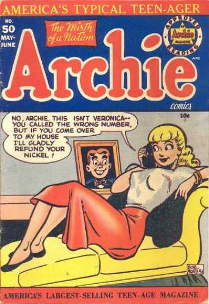Archie 50 - Betty - Veronica - Wrong Number - Telephone - Nickel