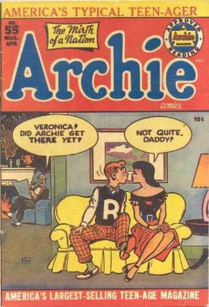 Archie 55 - Americas Typical Teen-ager - The Mirth Of A Nation - Pproved Reading - No55 - Mar-apr