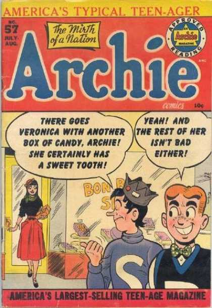 Archie 57 - Bon Bon Shop - Sweet Tooth - Teenage - Bow Tie - Red Skirt