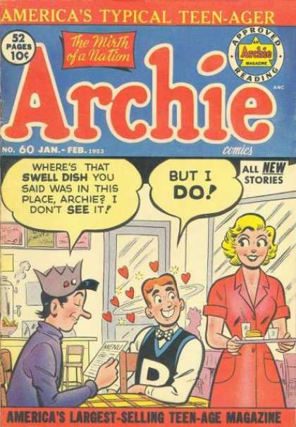Archie 60 - Archie In Love - The Swell Dish - Teenager In Love - Yum-yum - Head Over Heels