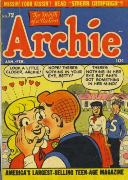 Archie 72 - Betty - Veronica - Jughead - Smear Campaign - Golden Age