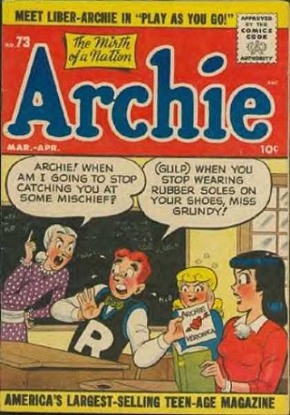 Archie 73 - School - Teacher - Liber-archie - Play As You Go - Valentine