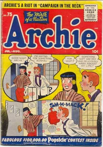 Archie 75 - Campaign In The Neck - The Mirth Of A Nation - Popsicle Contest Inside - Door - Loving Hearts