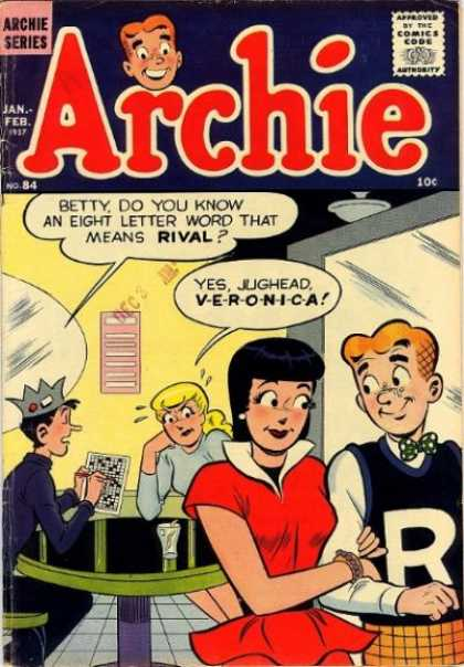 Archie 84 - Archie - Betty And Veroica - Jughead - Jealous - Rivals