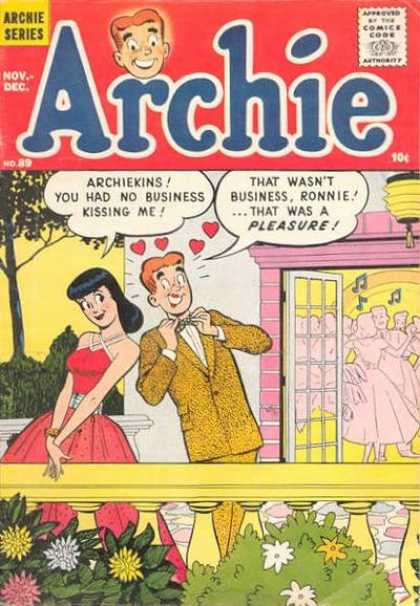 Archie 89 - Ronnie - Pleasure - Hearts - Kissing - Window