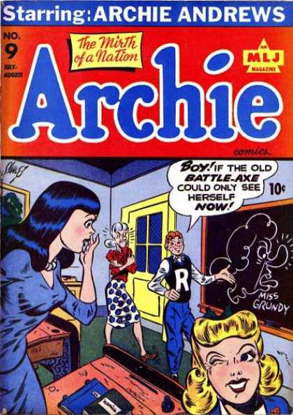Archie 9 - Boy - The Mirth Of A Nation - Blackboard - Angry - Blush