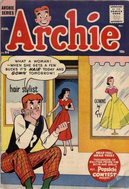Archie 94 - Approved By The Comics Code - Woman - Dress - Hair Stylist - Gowns
